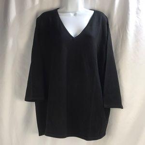 Ralph Lauren Silk Blend V Neck Sweater 3X